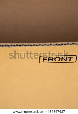 grunge brown corrugated cardboard background