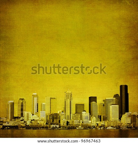 Grunge city background