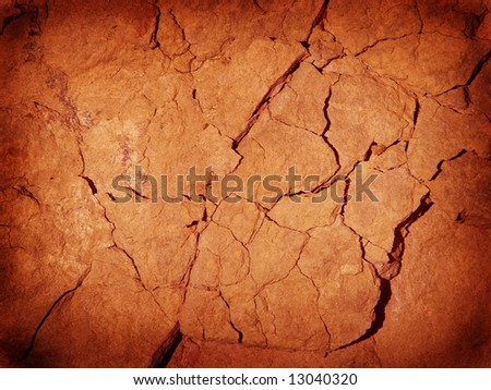 Grunge close-up of cracked Earth