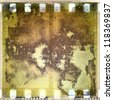 Grunge corroded film strip frame - stock photo