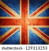 grunge flag of England - stock vector