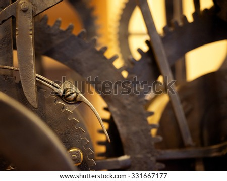 Grunge gear, cog wheels background. Concept of industrial, science, clockwork, technology.