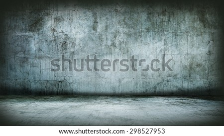 Grunge Interior. Studio template