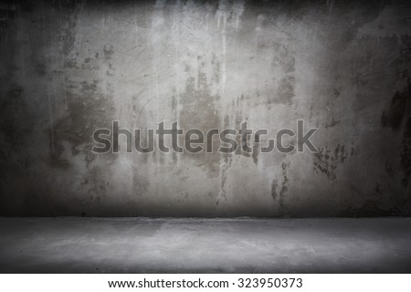 Grunge interior wall and floor