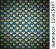 Grunge love pattern - stock photo