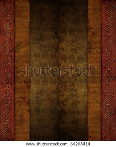 Grunge paper like a vintage gift packing texture
