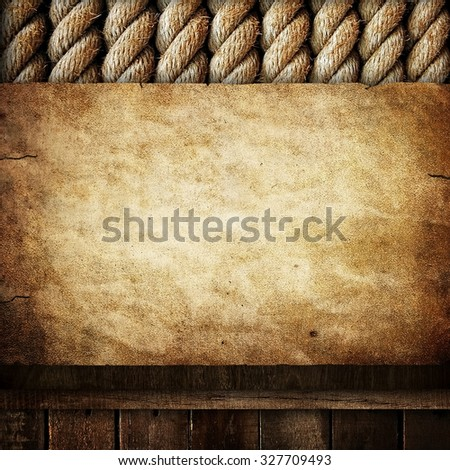 grunge paper with rope