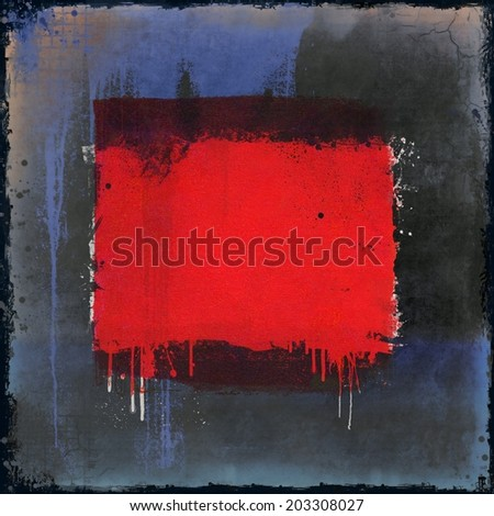 Grunge red dripping background. Design element.