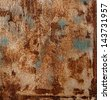 Grunge texture of a rusty surface - stock photo