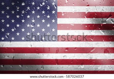 American Flag Patriotic Symbols United States Stock Photo ...