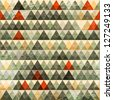 grunge triangle seamless pattern (raster version) - stock photo
