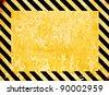 Grunge warning background - stock photo
