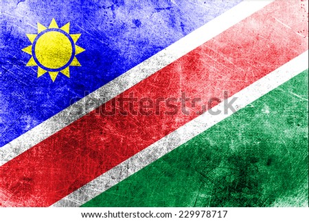 Grungy Flag of Namibia