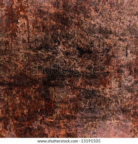 Grungy rusted metal plate texture: can be used as background