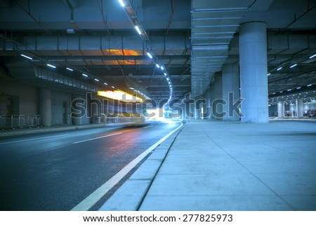 Guangzhou road light trails