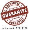 Guarantee stamp - stock photo