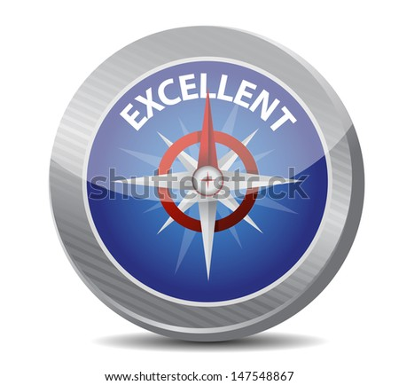 guide to excellence compass illustration design over a white background