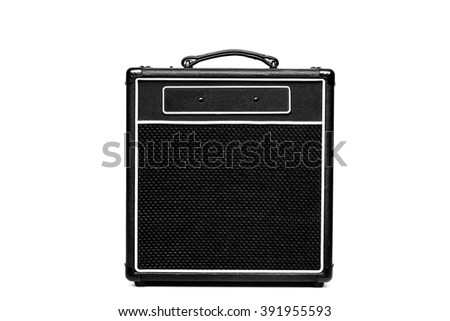 Guitar amplifier isolated on white