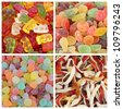 gummy candies set - stock photo