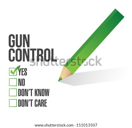 gun control survey concept illustration design over white