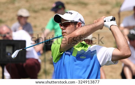 GUYANCOURT , FRANCE, JULY 04, 2015 : Jaco Van Zyl ( afs ) During the third round of the French Open, European golf tour, July 04, 2015 at The golf National, Guyancourt, France.