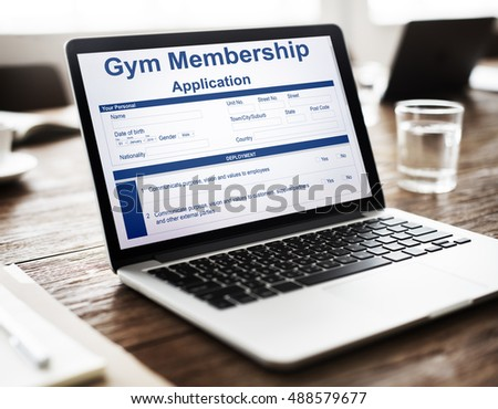 Gym Membership Application Form Request Concept
