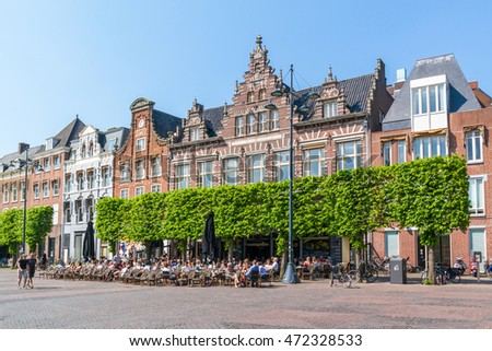 Traditional Dutch Old Houses Bridges On Stock Photo