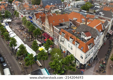 Haarlem, Netherlands, on July 11, 2014. A view of the city from a survey terrace