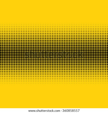 Halftone illustrator effect pattern. Black dots on Color background. Texture  illustration