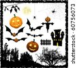 Halloween elements - stock vector