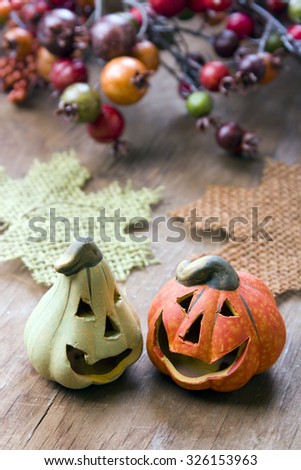 Halloween pumpkins decor