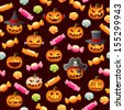 Halloween  seamless. Raster version, vector file also included in the portfolio. - stock photo