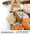 Halloween Treats On White Background - stock photo