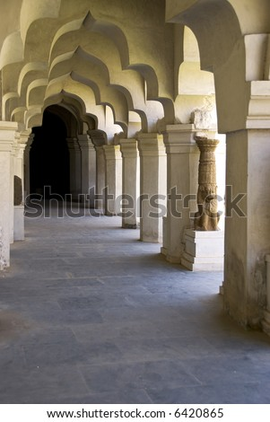 Halls of the Palace Museum at Tanjore place