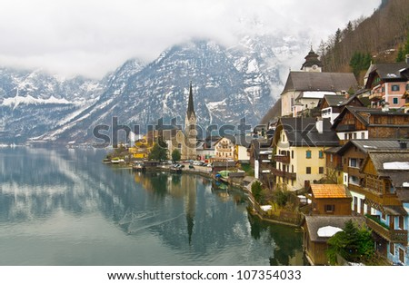 Hallstatt in the winter, Austria
