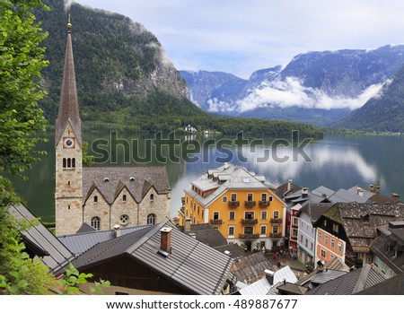 Hallstatt village and lake, Austria