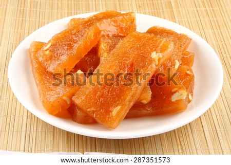 Halwa, A  famous Indian sweet.
