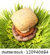 Hamburgers with salad - stock photo