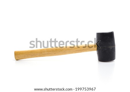 Hammer isolated white background