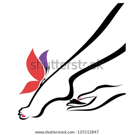 hand and foot, body care, illustration. raster version