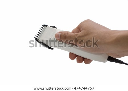 Hand clippers isolated white background.