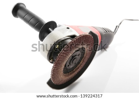 Hand cutting machine on white background
