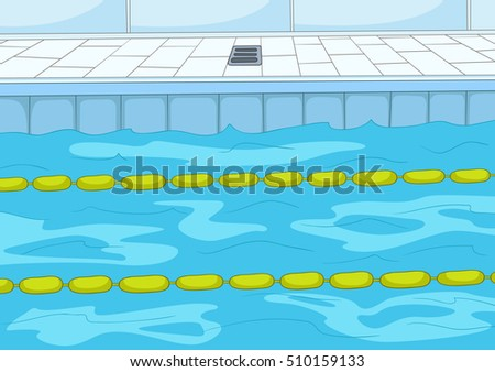 Swimming Pool Background swimming pool cartoon background vector illustration stock vector