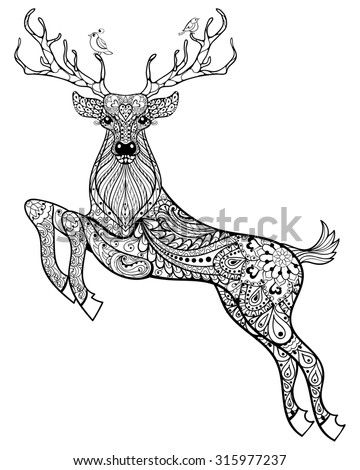 Easy Camel Drawing further Detailed Pisces Aztec Filigree Line Art 472963795 furthermore Deer Hand Drawn Christmas Magic Horned 311620655 likewise Rose Tattoos Drawing furthermore Easy Animal Drawings. on deer head doodle