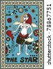 hand drawn tarot deck, major arcana, the raster version, the star - stock photo
