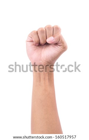 hand hold something on white background  isolated