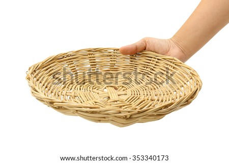 Hand holding basket. (with PATH)