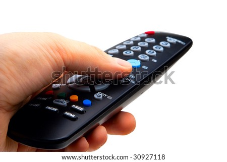 tv remote clipart no background. hand holding tv remote control. isolated on a white background tv clipart no