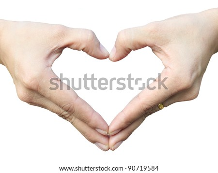 Hand make heart sign