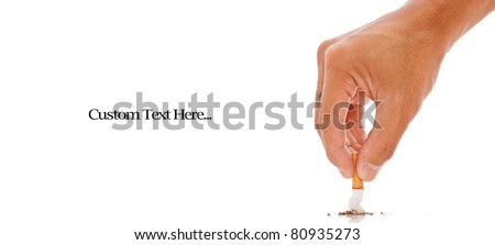 Hand Putting Out a Cigarette